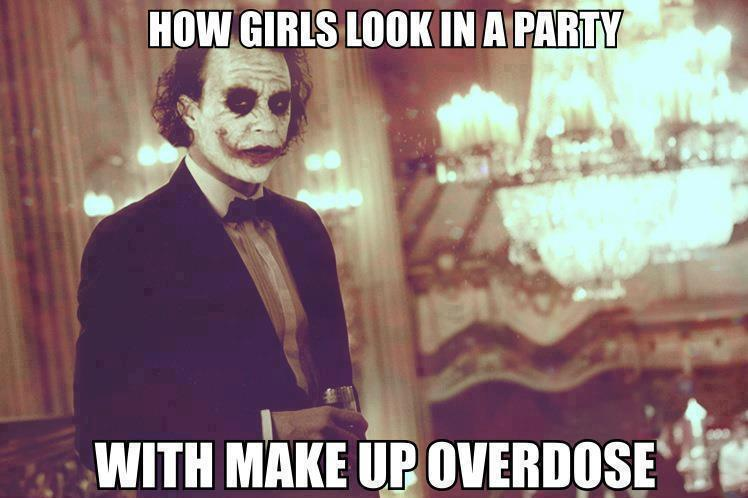 Make Up Meme how girls look in a party with make up