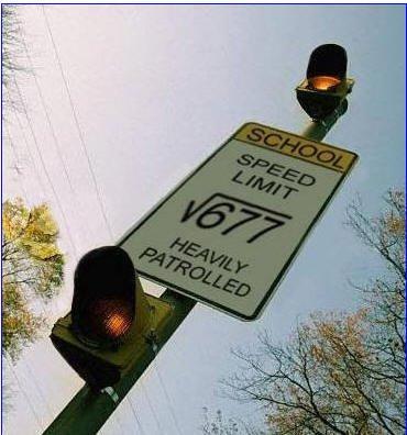 Math Meme School speed limit heavily patrolled