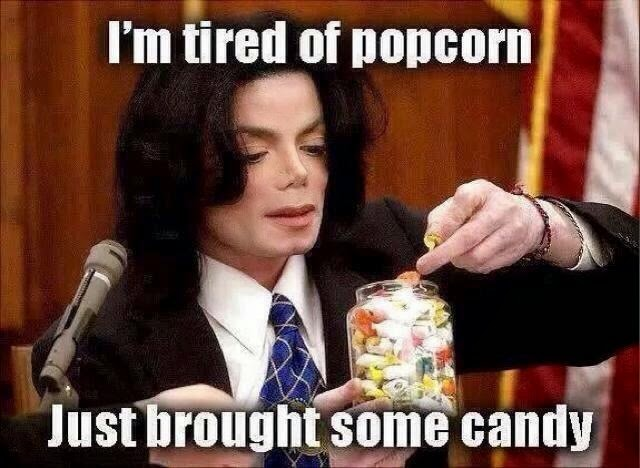 61 most funniest michael jackson memes images photos picsmine michael jackson meme im tired of popcorn just brought some candy publicscrutiny Choice Image