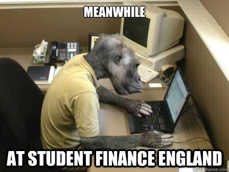 Monkey Meme Meanwhile at student finance England