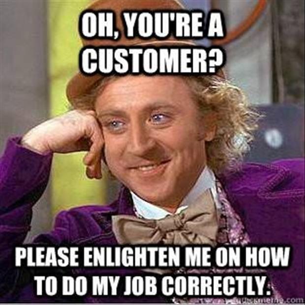 Monkey Meme Oh you're a customer please