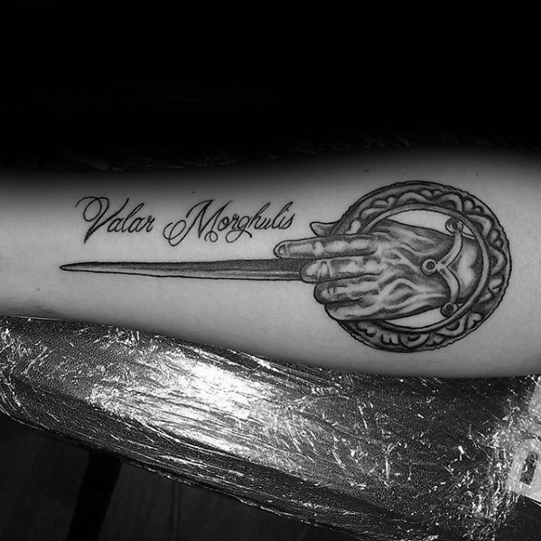Motivational Game Of Thrones Tattoo On arm for women
