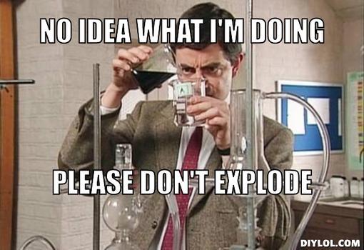Mr Bean Meme No idea what im doing please don't