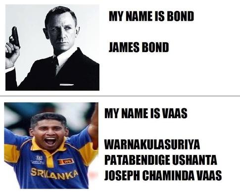 My name is bond james bond Cricket Meme