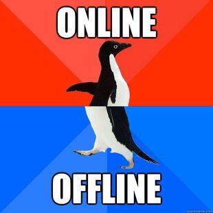 Online Meme online offline