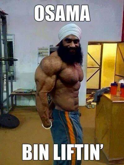 Osama bin liftin Muscle Meme