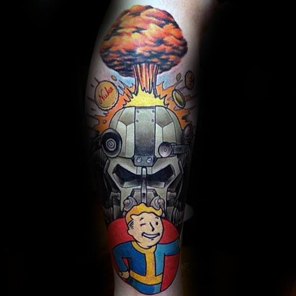 Popular Fallout Tattoo On arm for ladies