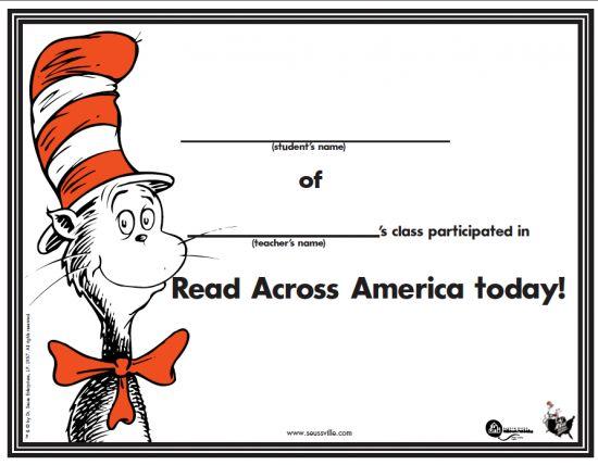 Read Across America Today Dr. Seuss Birthday
