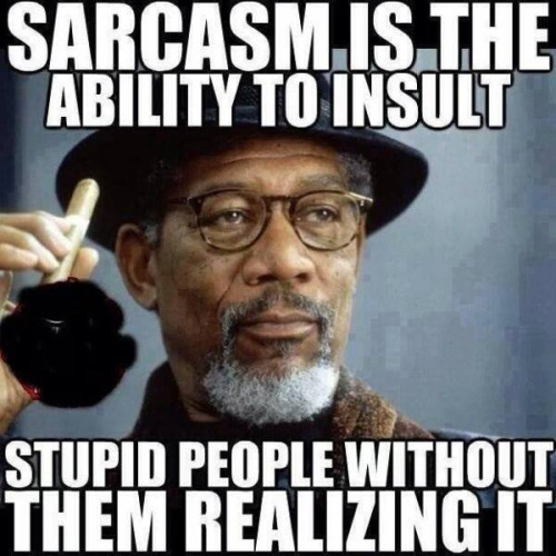 Saracasm is the ability to insult stupid Insult Meme