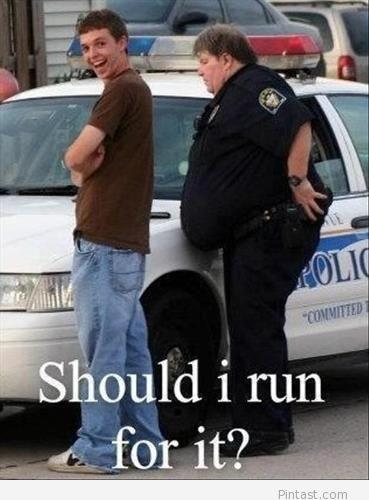 Should i run for it Cops Meme