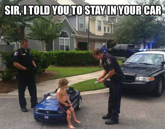 Sir i told you to stay in your car Cops Meme