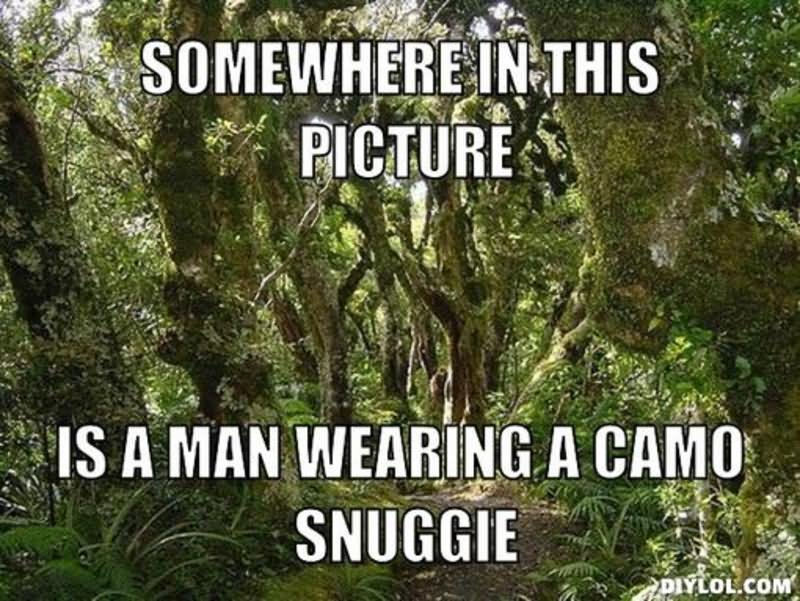 Somewhere in this picture is a man Camouflage Meme