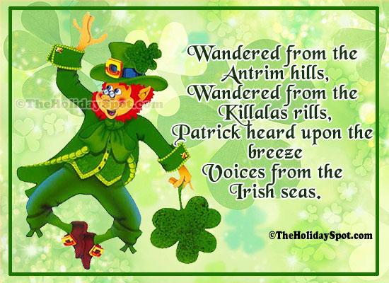St. Patrick's Day Poem Image