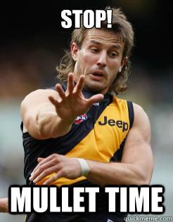 Stop mullet time Mullet Meme