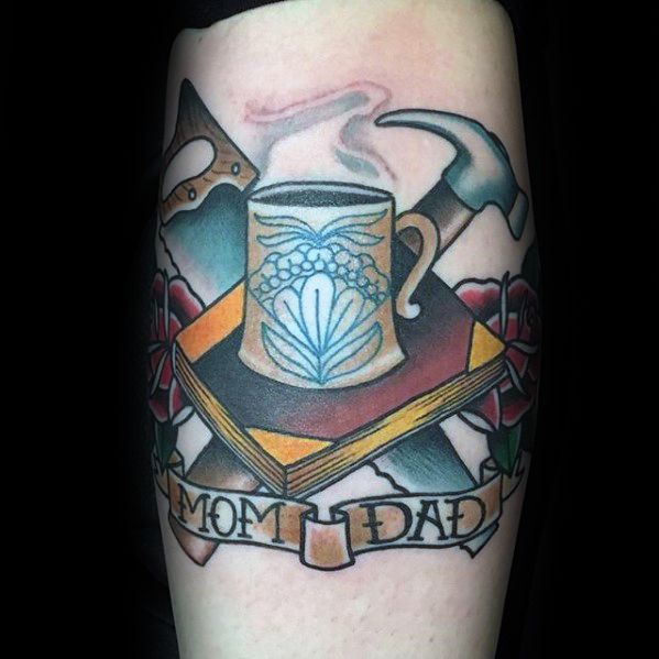 Sweet Coffee Tattoo On Arm for Girl
