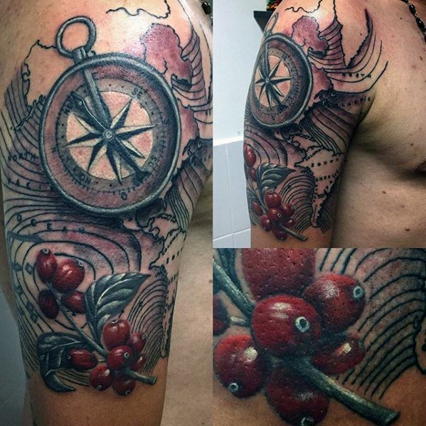 Terrific Coffee Tattoo On Arm for For Younger
