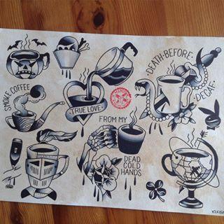 Trendy Coffee Tattoo For Tattoo fan