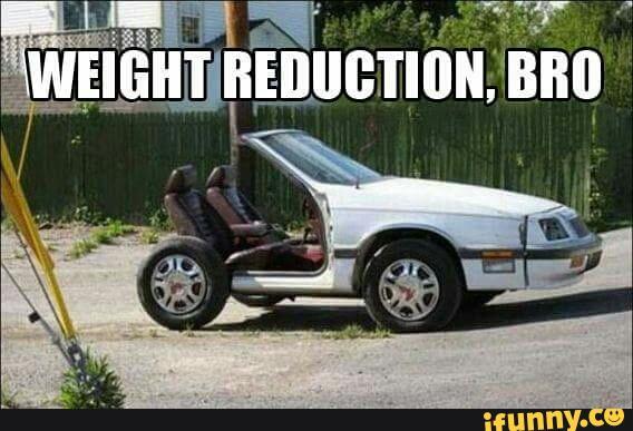 Weight reduction bro Car Meme