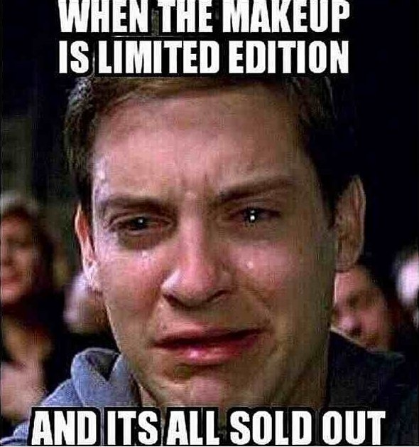 When the makeup is limited edition and its all sold Make Up Meme