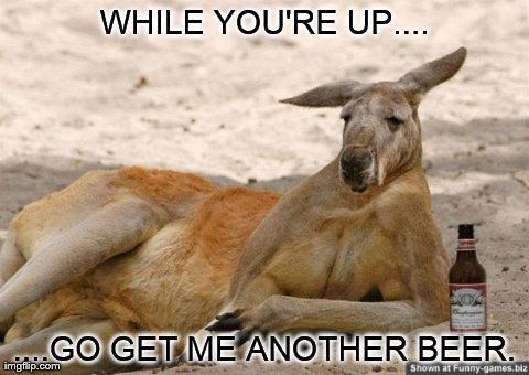 While you're up go get me another Kangaroo Meme