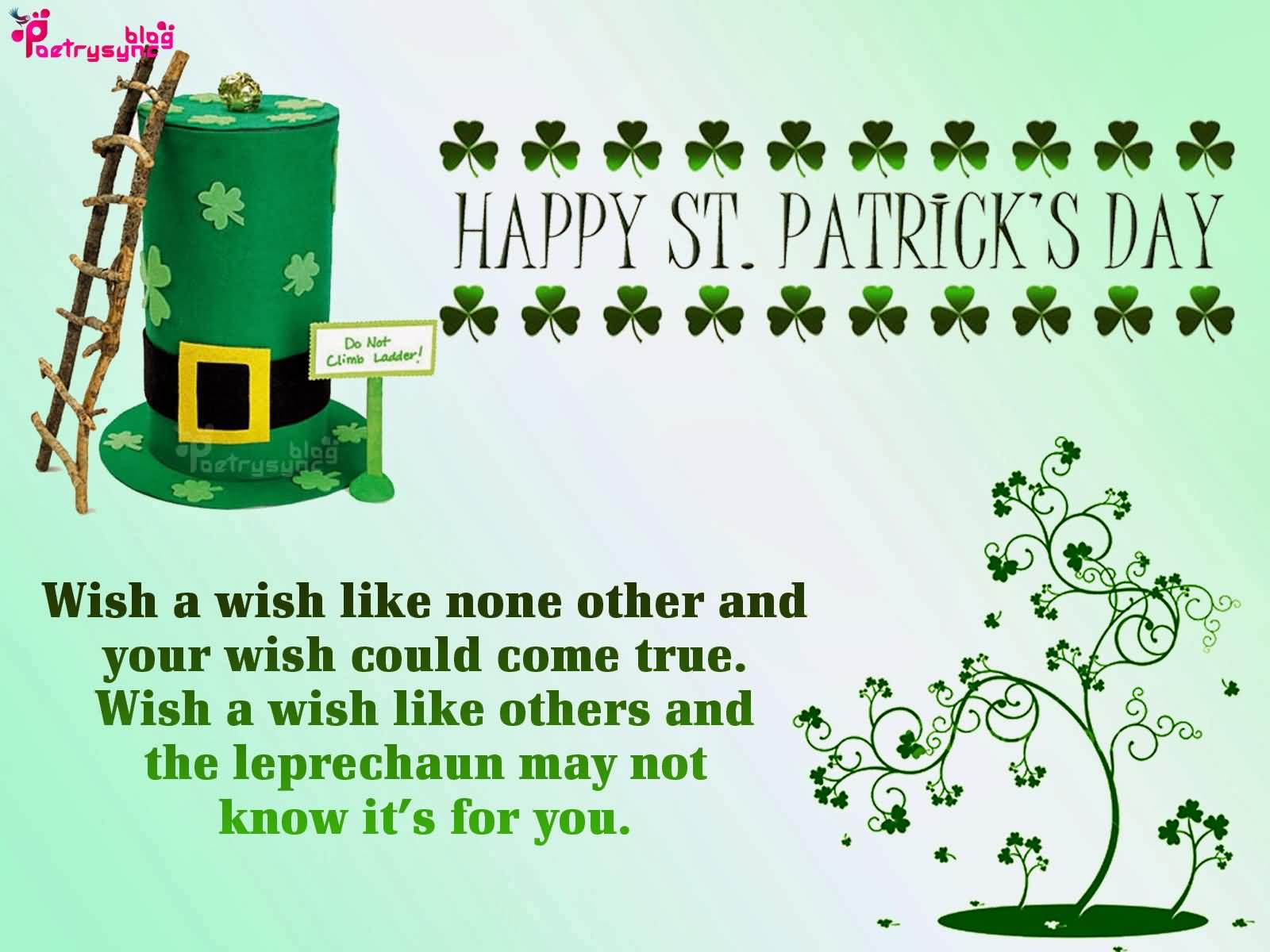 Wish You Happy St. Patrick's Day Wishes Image