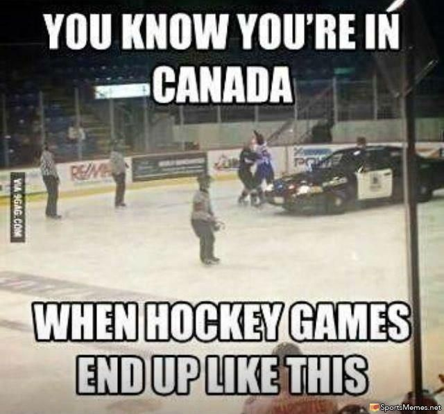 You know you're in Canada Hockey Memes