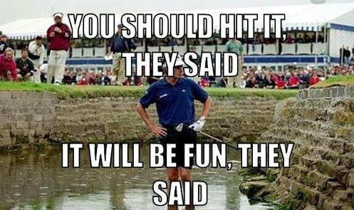 You should hit it they said Golf Memes