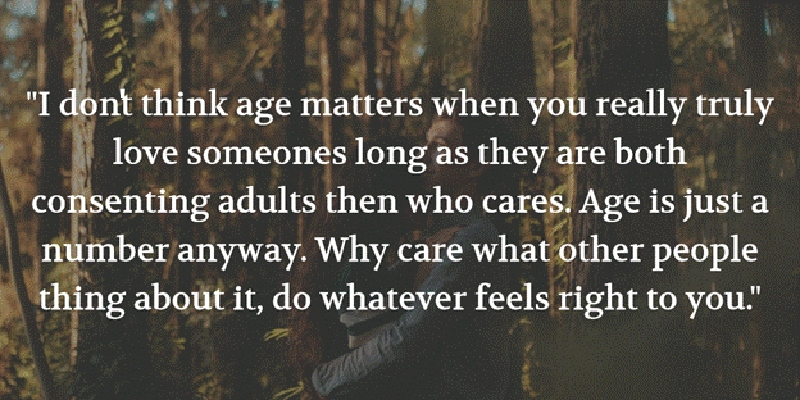 Age Quotes i don't think age matters when you really truly love someone