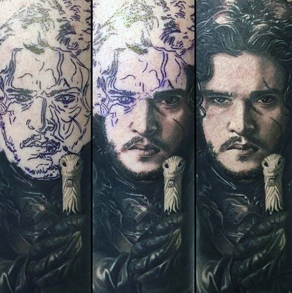Beautiful Game Of Thrones Tattoos On Shoulder and Arm For tattoo fan