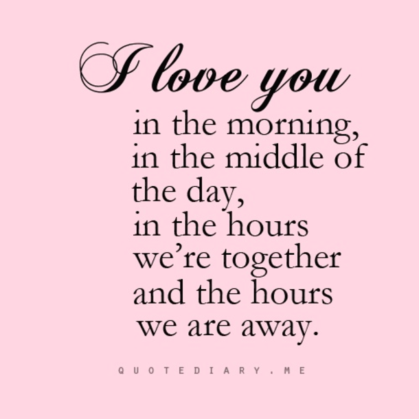 Best love Quotes i love you in the morning