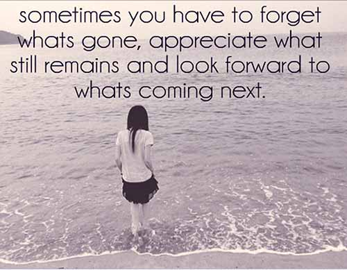 Best love Quotes sometimes you have to forget what's