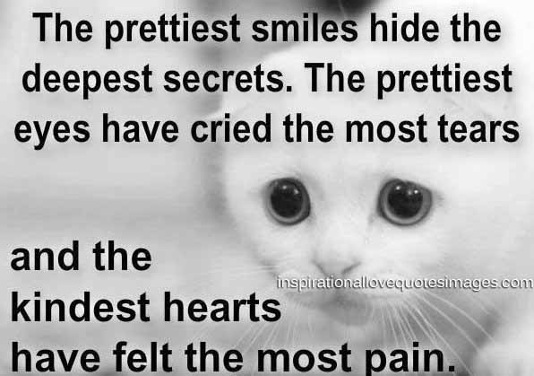 Best love Quotes the prettiest smiles hide the deepest secrets