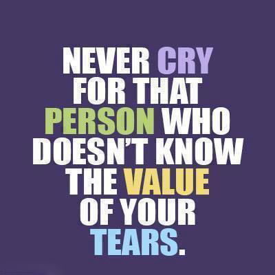 Broken Trust Quotes Never cry for that person who doesn't know
