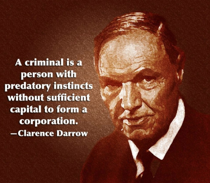 Criminal Quotes A criminal is a person with predatory instincts without