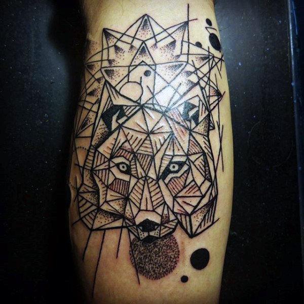 Cute Calf Tattoos On leg for Tattoo fan