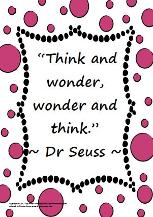 Dr Seuss Quotes think and wonder and think