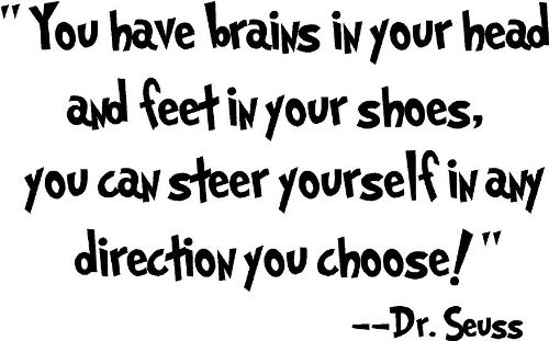 Dr Seuss Quotes you have brains in your head and feet in your