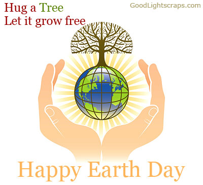 Earth Day Quotes hug a tree let it grow free happy earth day