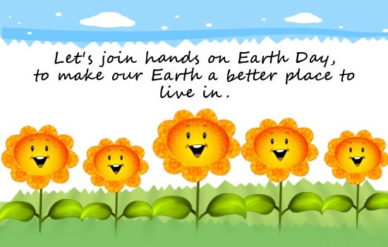 Earth Day Quotes let's join hands on earth day to make our