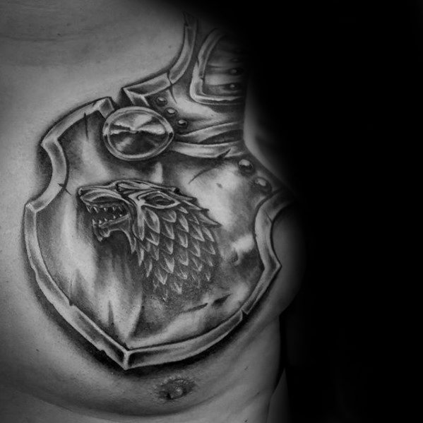 Elegant Game Of Thrones Tattoos For boy's chest