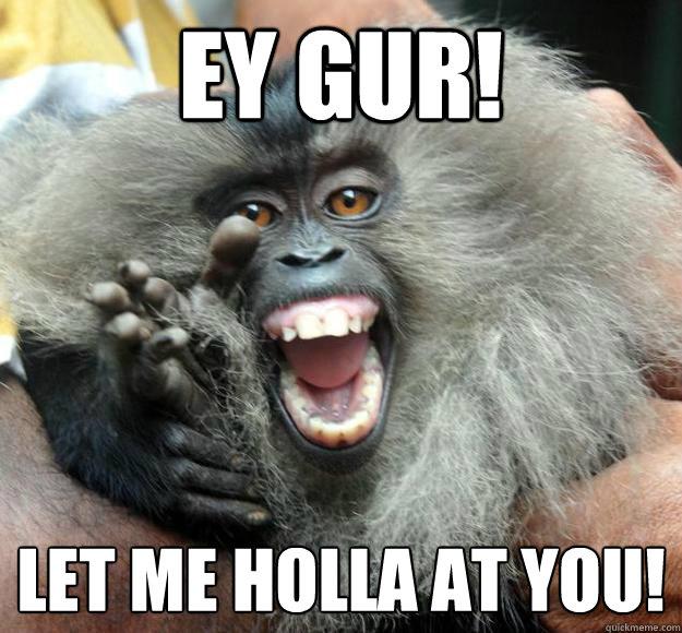Ey gur let me holla at you Pigs Meme