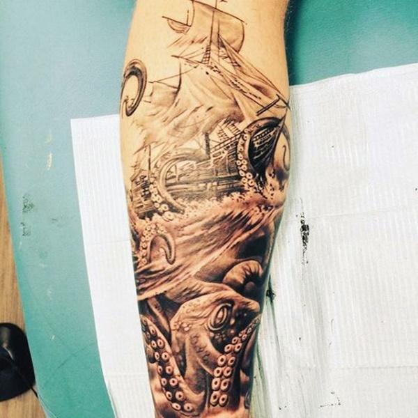 Fabulous Calf Tattoos On Leg for girl