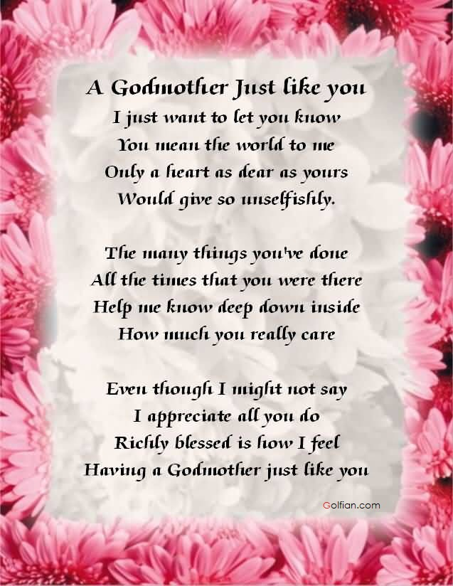 Godmother Quotes a godmother just like you i just want