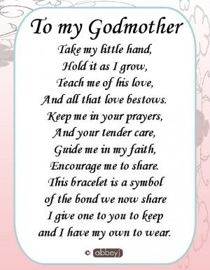 Godmother Quotes to my godmother take my little hand hold it as i