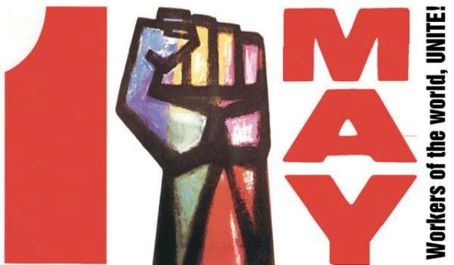 Happy May Day Celebrate Labour Day Wishes Message Image