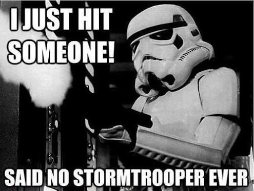 I just hit someone said no War Meme