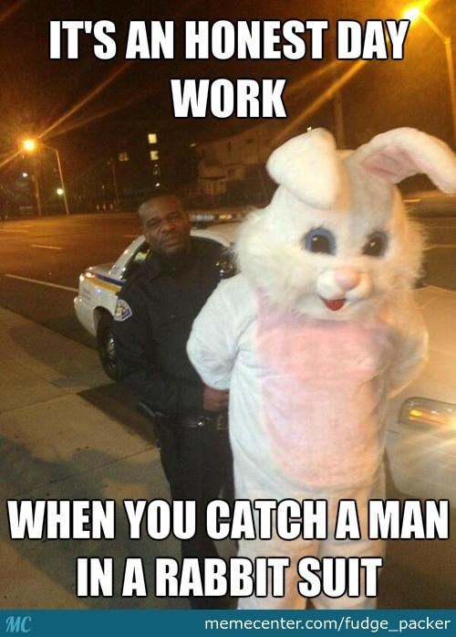 It's an honest day work when you catch Rabbit Memes