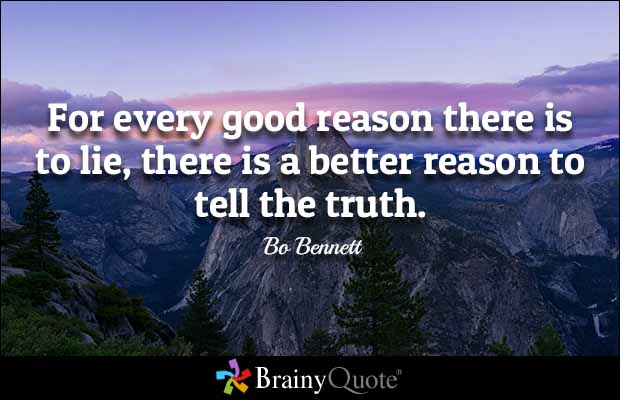 Lie Quotes for every good reason there is to lie