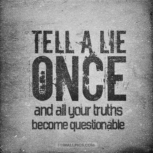 Lie Quotes Tell A Lie Once And All Your Truths Become Questionable