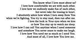 Long Love Quotes you know what i love most about